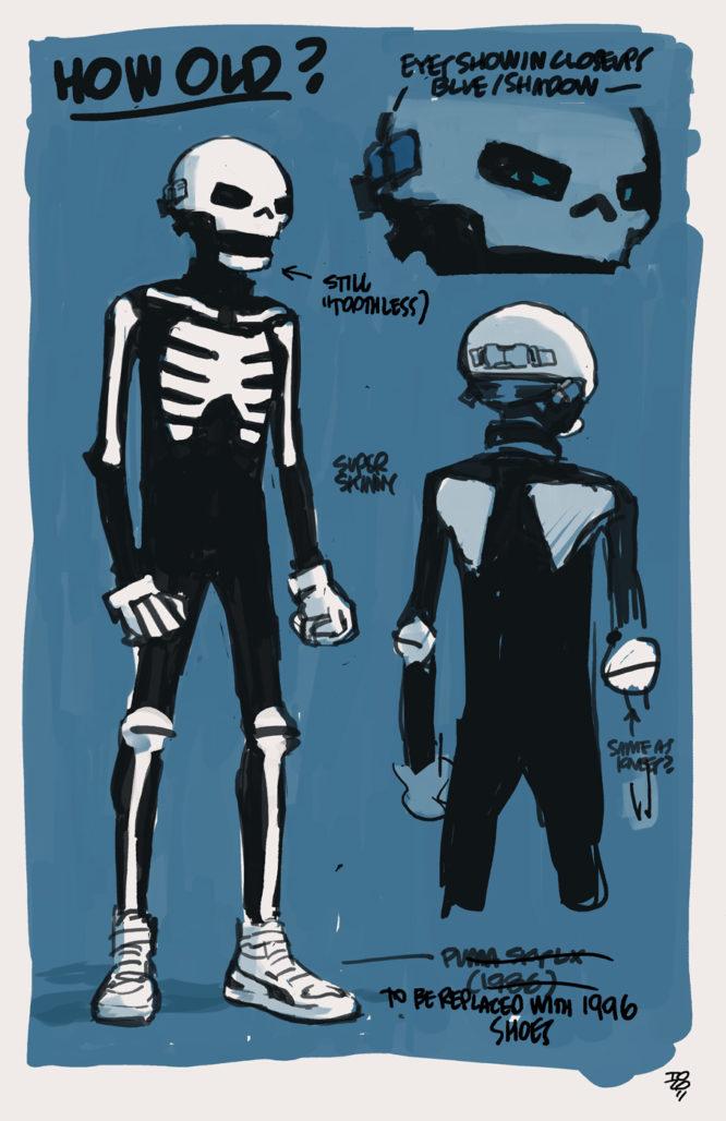 Skeleton Boy design by Tonči Zonjić