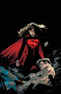 Dark Multiverse Lois standing over a dead Superman