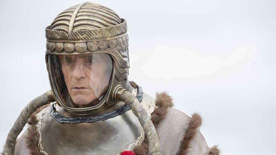 Adrian Veidt in his space suit