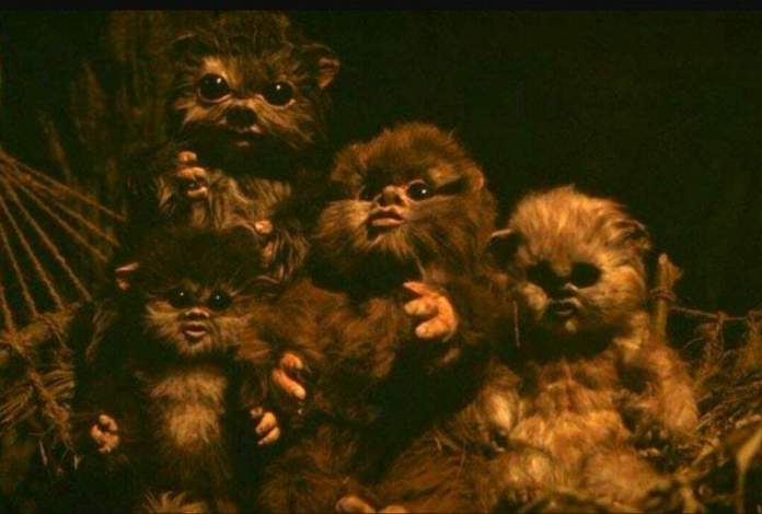 Cute beings in Star Wars: Baby Ewoks
