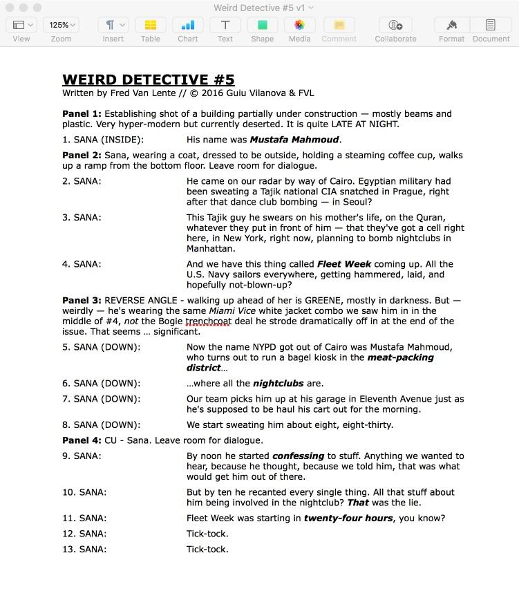 letterer role script