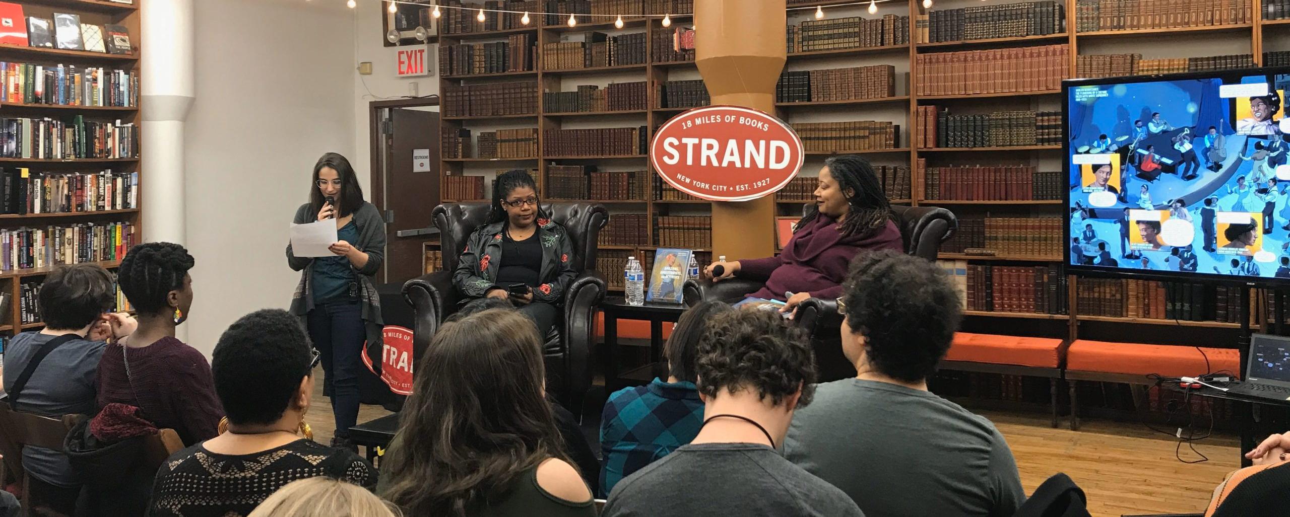 Mikki Kendall and N.K. Jemisin at Strand Book Store