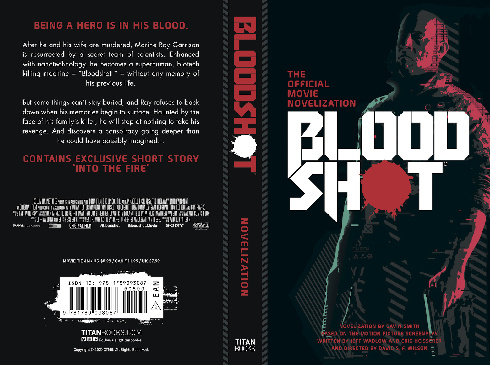 Bloodshot movie novelization