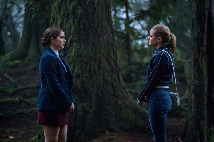 Betty confronts Donna in the woods on Riverdale