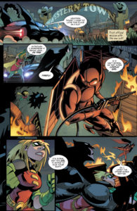 Page four of Amy Wolfram and Damian Scott's Robin story