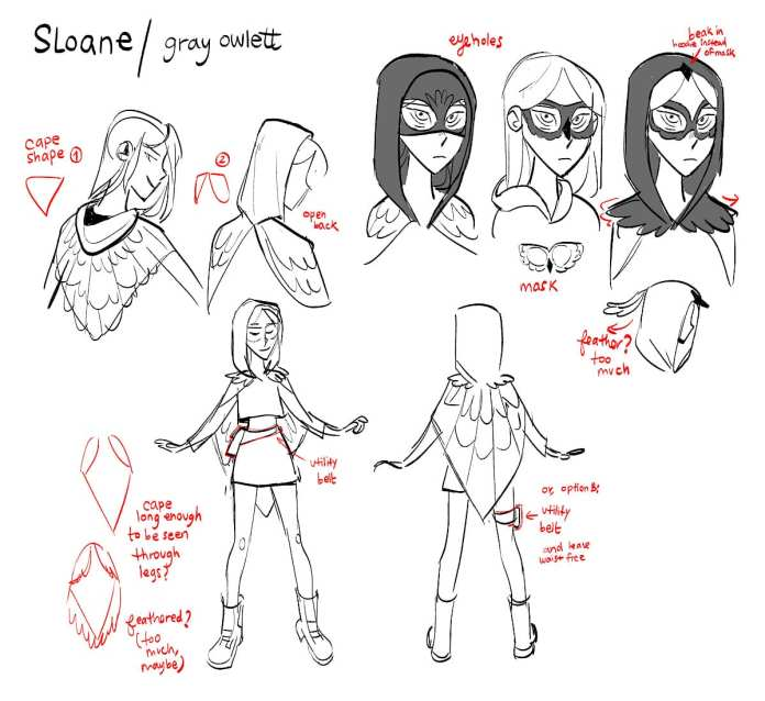 Sloane Character Design