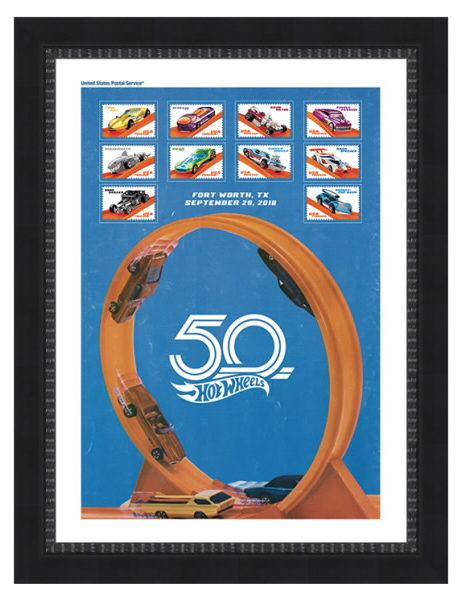 USPS Hot Wheels stamps