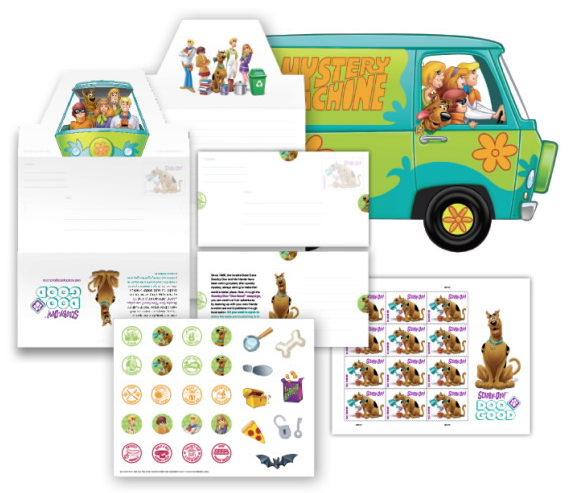 USPS Scooby-Doo stationery set