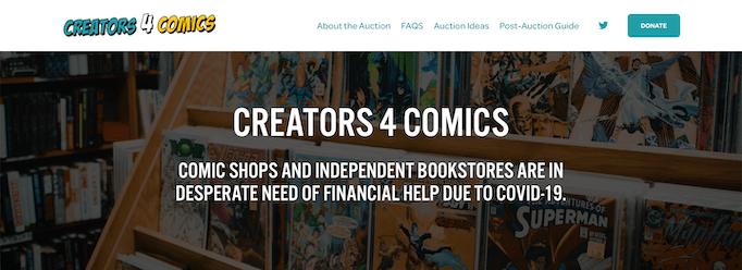 comics community covid-19 creators4comics