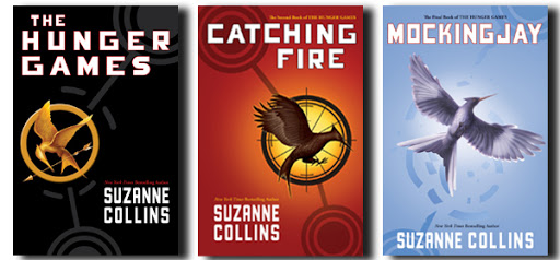The covers of the Hunger Games trilogy