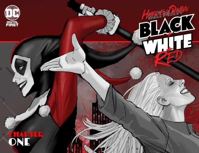 Harley Quinn + Black + White + Red