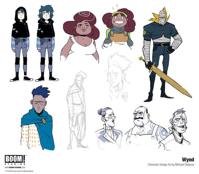 wynd character designs