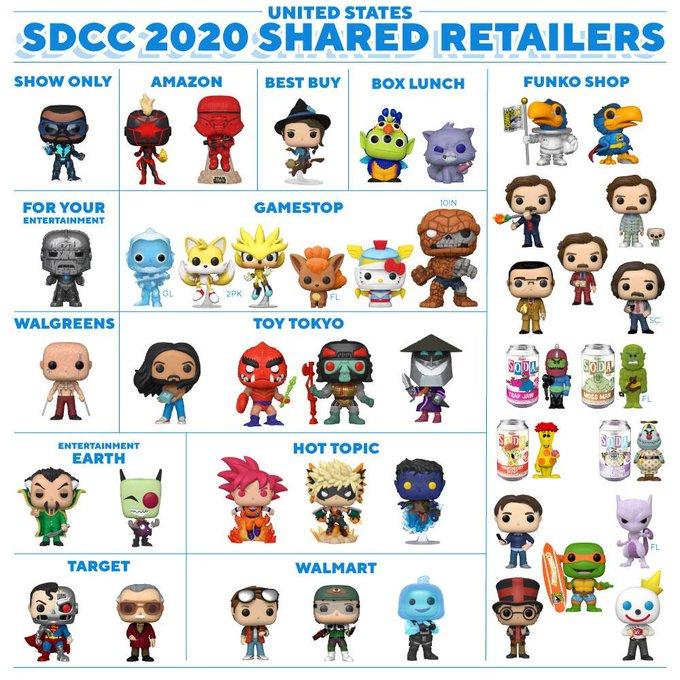 funko pops sdcc 2020