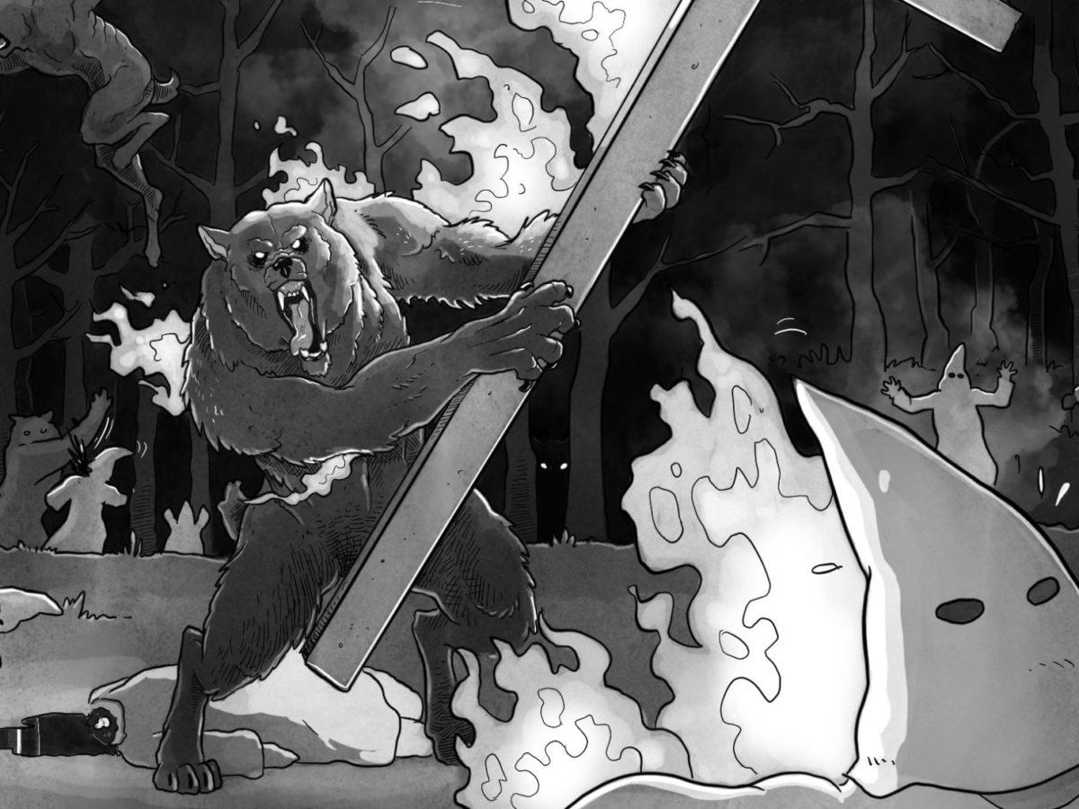 Diary mad black werewolf