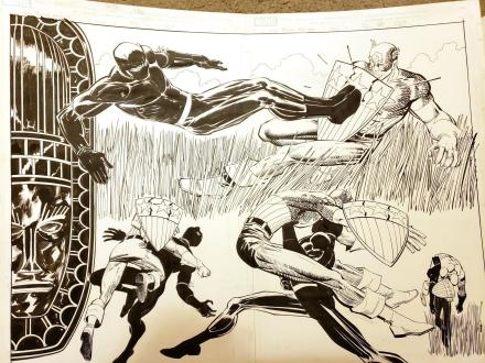 Black Panther #1 Spread by John Romita Jr and Klaus Janson