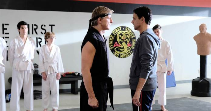 William Zabka and Ralph Macchio reprise their Karate Kid characters in Cobra Kai, which is horror, really
