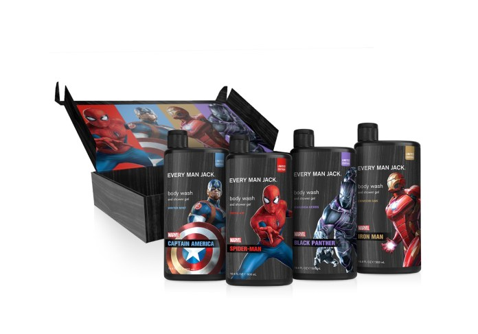 marvel grooming products every man jack collectors box
