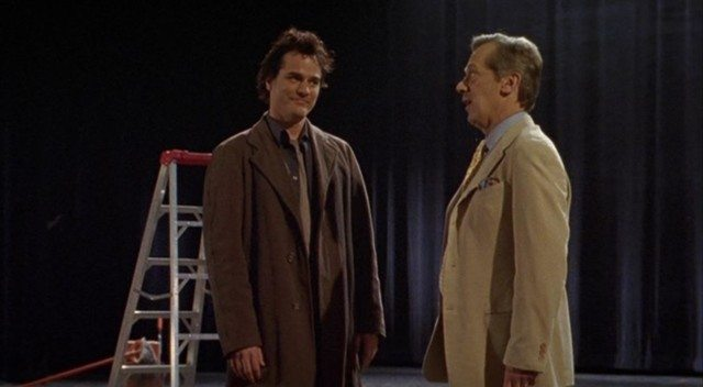 Geoffrey Tennant (Paul Gross) and Oliver Welles (Stephen Ouimette) in Slings and Arrows, a Canadian comfort show