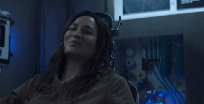 "Clarissa Mao (Nadine Nicole) is hooked up to all sorts of sedatives in ""Gaugamela"""