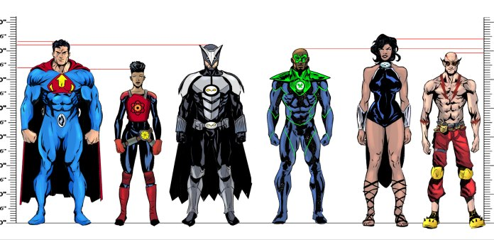 Crime Syndicate character designs