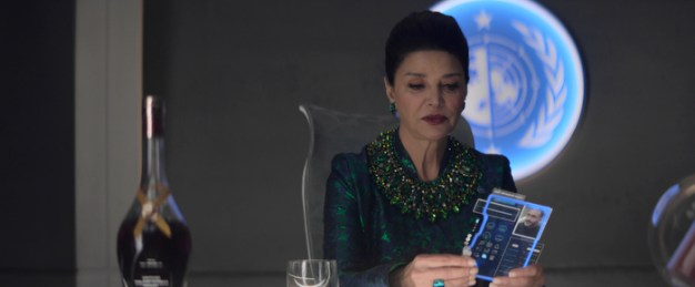 "Chrisjen Avasarala (Shohreh Aghdashloo) searches for her lost husband in ""Tribes"""