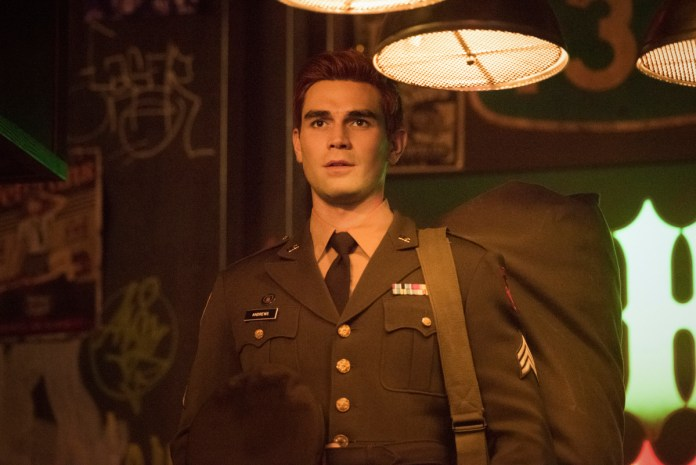 Sgt Archie Andrews ships off to Riverdale