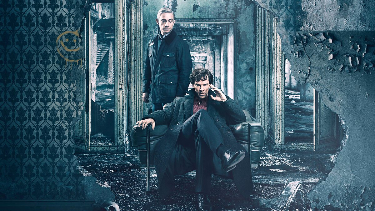Sherlock Holmes and John Watson in Sherlock, a so-called queerbaiting show