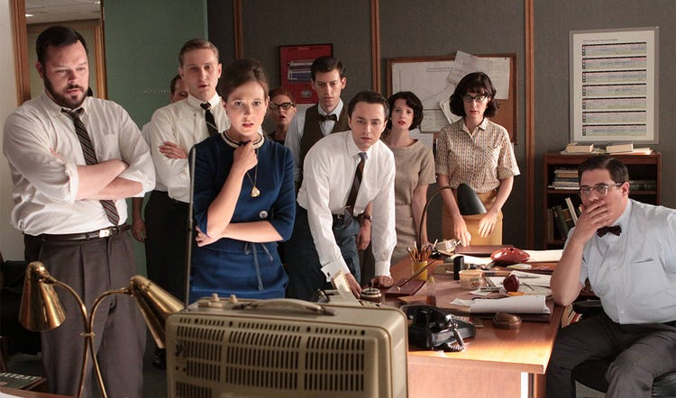 The Mad Men crew probably isn't on a summer rewatching binge here
