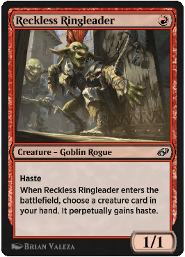 Reckless Ringleader from Magic Arena exclusive set Jumpstart: Historic Horizons