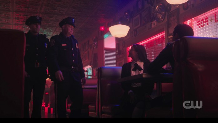 The Riverdale police pick up young Hiram