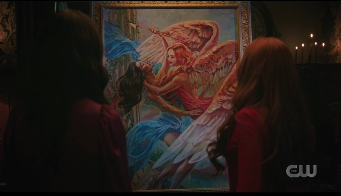 Cheryl Blossom's painting of Psyche and Cupid