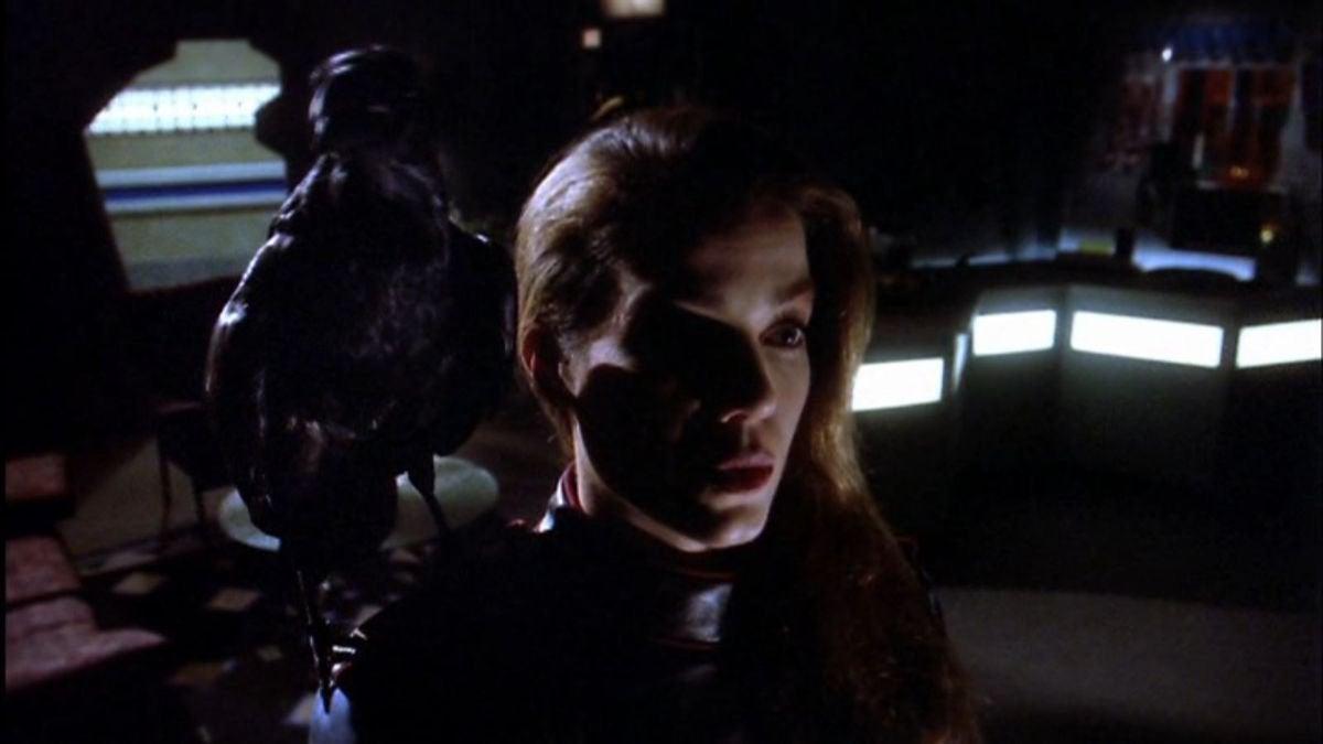 Claudia Christian as Susan Ivanova, in a harbinger dream on BABYLON 5