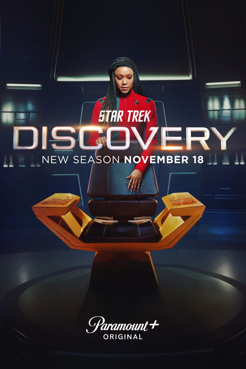 Michael Burnham (Sonequa Martin-Green) is the new captain in STAR TREK: DISCOVERY's fourth season
