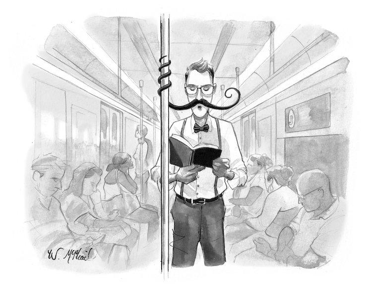 will mcphail new yorker subway cartoon