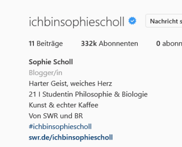 Das Sophie Scholl Instagram-Projekt ist... befremdlich - Eine Kritik 3