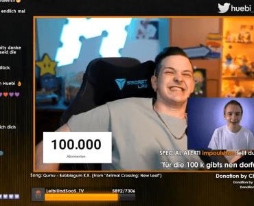 Huebi erreicht die 100.000 Abonnenten auf YouTube 7