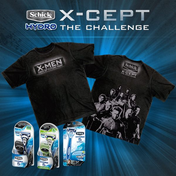 US Giveaway: X-Men Days of Future Past - Schick Razor and Shirt