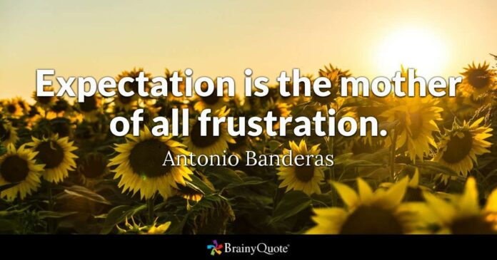 antonio banderas expectation is the mother of all