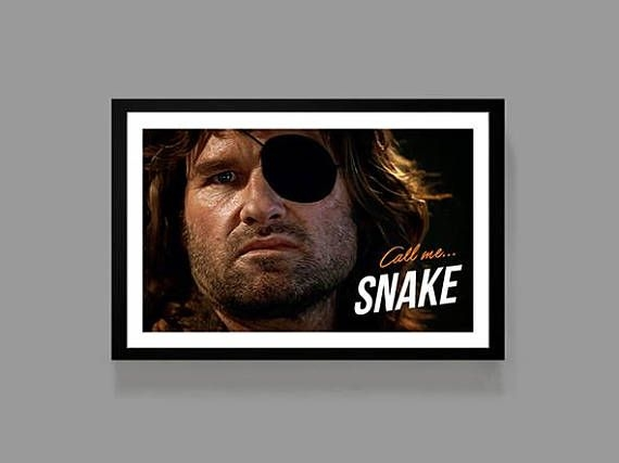 snake plissken poster escape from new york print quote