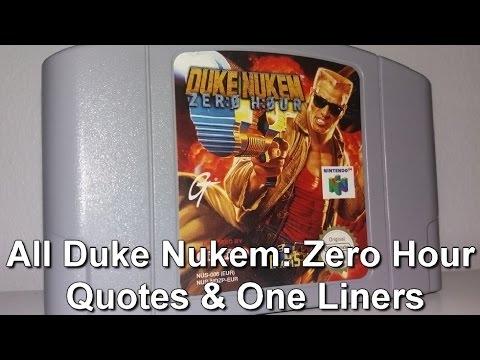 all duke nukem zero hour quotes one liners nintendo 64