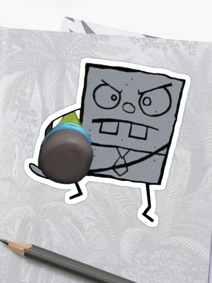 doodlebob spongebob sticker