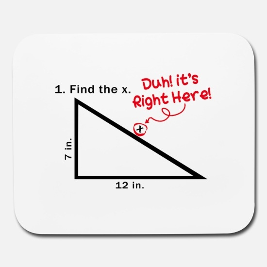 find the x duh its right here funny math quotes mouse pad horizontal white