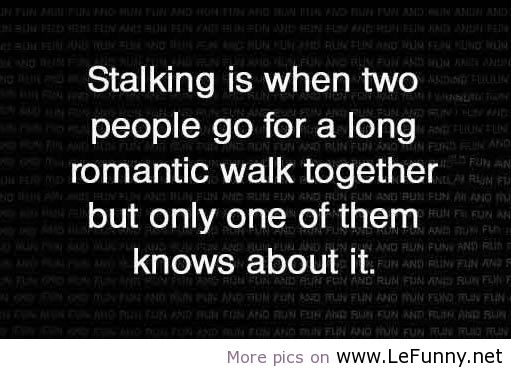 the definition of stalking