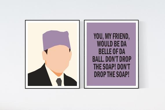 the office tv show michael scott quote prison mike art