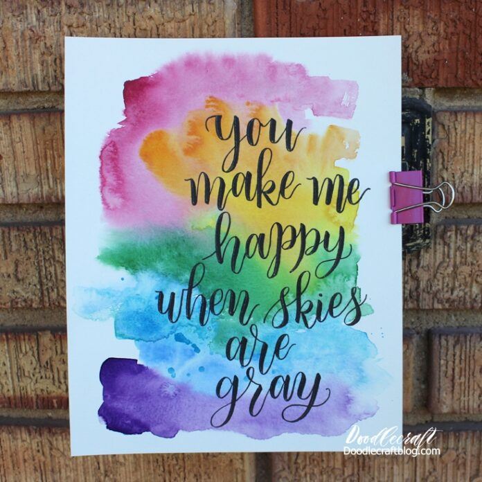 watercolor wash calligraphy lettering quotes