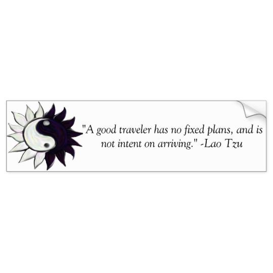 yin yang flower and lao tzu quote bumber sticker