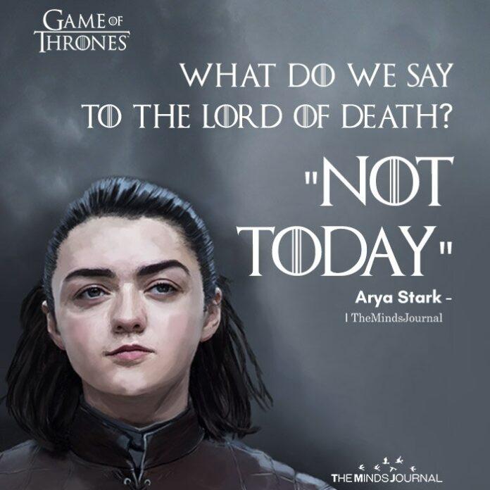 Arya Stark Quotes Comicspipeline Com
