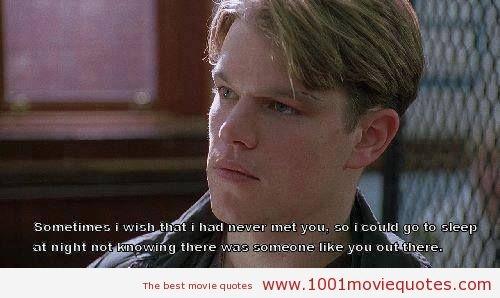 1 movie film book cinema quotes matt damon good will