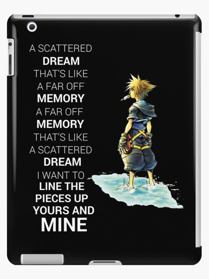 kingdom hearts dream quote ipad caseskin raw95