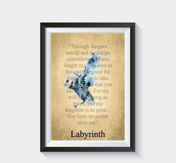larinth quote a4 pdf printable larinth print you have no power over me through dangers untold
